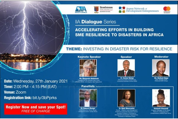 IIA Dialogue Series: Accelerating Efforts in Building SME Resilience to Disasters in Africa