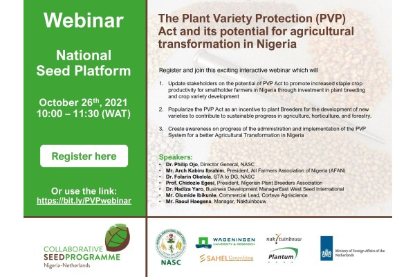 The Plant Variety Protection (PVP) Act and its Potential for Agricultural Transformation in Nigeria